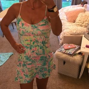 Meryl Nylon Adeli Lilli Pulitzer Tennis Dress